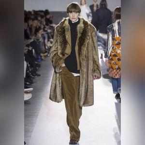 Dries Van Noten runway faux fur coat S BNWT